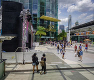People walking at Siam Square in Bangkok stock photography