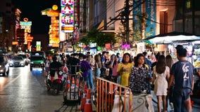 Bangkok, Thailand - Jun 9, 2019: Weergeven van de stad van China in Bangkok stock videobeelden
