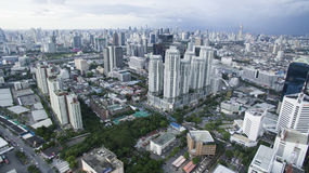 BANGKOK THAILAND - JUNE 7,2017 : aerial view of high and modern Stock Photography