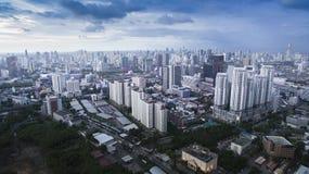 BANGKOK THAILAND - JUNE 7,2017 : aerial view of  high and modern Stock Photos