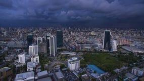 BANGKOK THAILAND - JUNE 7,2017 : aerial view of  high and modern Stock Photo
