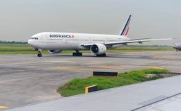 Air France Airplane in New Bangkok International Airport Suvarnabhumi Stock Image