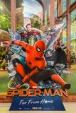 A beautiful standee of a movie called Spider-Man: Far From Home display at the cinema to promote the movie. BANGKOK, THAILAND, 29 June 2019 - A beautiful standee royalty free stock images