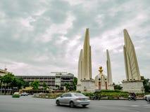Democracy Monument with rainy sky in bangkok city. Bangkok/thailand - June 16 2018 : Democracy Monument with rainy sky in bangkok city Thailand,landmarks of royalty free stock photo