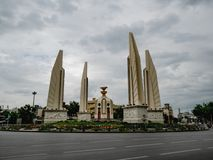 Democracy Monument with rainy sky in bangkok city. Bangkok/thailand - June 16 2018 : Democracy Monument with rainy sky in bangkok city Thailand,landmarks of stock images