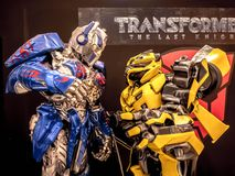 Bangkok, Thailand - June 15, 2017: Fictional characters of Transformers: The Last Knight. It is the fifth installment of the live-. Action Transformers film royalty free stock photos