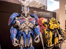 Bangkok, Thailand - June 15, 2017: Fictional characters of Transformers: The Last Knight. It is the fifth installment of the live-. Action Transformers film royalty free stock photo