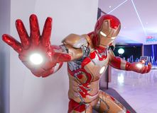 Iron Man model show in Avengers Endgame exhibition booth at emquartier, Iron Man is a fictional superhero in American comic books