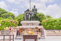 Bangkok, Thailand - June 5, 2016 : King Chulalongkorn (father - Royalty Free Stock Photos