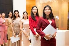 Miss Universe Thailand 2019, Audition Contestant stock photos