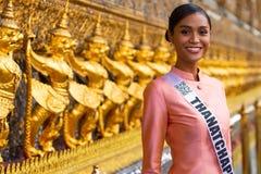 Miss Universe Thailand 2019, visit tour camping stock photo