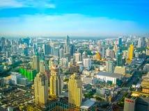 Bangkok, Thailand - June 30, 2008: Panorama of near Petchburi Road Stock Photography