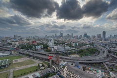 BANGKOK, THAILAND - JUNE 28, 2015: Photo of Bangkok cityscape, the capital of Thailand. Royalty Free Stock Image