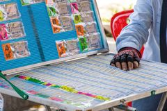 Thai Lottery Ticket editorial stock photo. Image of asian