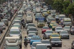 BANGKOK, THAILAND - June 31, 2016: Traffic reaches gridlock Royalty Free Stock Images