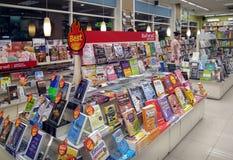 BANGKOK THAILAND - JUNI 01: Boken som SE-ED sätts upp, bokar som är är Royaltyfria Foton