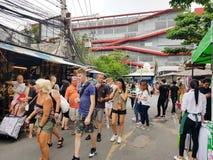 BANGKOK, 17 Thailand-Juni: De Markt van het Chatuchakweekend op 17 Juni, 2018 in Bangkok, Thailand Stock Foto's