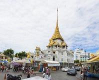 Bangkok, Thailand - Juni 28, 2015: De Tempel van Boedha van Wat Trimitr in Bangkok Royalty-vrije Stock Afbeelding