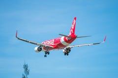 BANGKOK THAILAND - JUNI 1, 2015: HS--BBOflygbuss A320-216 av thailändskt Royaltyfri Foto