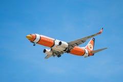BANGKOK, THAILAND - 1. JUNI 2015: HS-DBJ NOK-Luft Boeing 737-800 Lizenzfreie Stockfotos