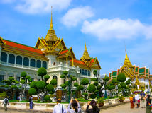 Bangkok Thailand - Juni 30, 2008: Slotten av konungen Royaltyfri Fotografi