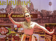 BANGKOK THAILAND - 13 JUNI: Srivichai toont (Thaise dans) in Kamia Stock Foto