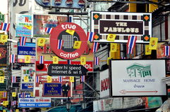 Bangkok, Thailand: Khao San Road Signs Royalty Free Stock Photography
