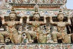 Bangkok, Thailand: Khong Figures at Wat Arun Stock Image