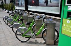 Bangkok, Thailand: Krungsri Bank Rental Bicycles Royalty Free Stock Photos