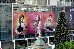 Bangkok, Thailand: Lenovo Advertising Billboard Royalty Free Stock Photos