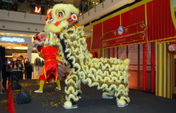 Bangkok, Thailand: Lion Dancers Royalty Free Stock Images