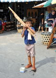 Bangkok, Thailand: LIttle Boy Musician Stock Photo