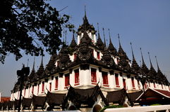 Bangkok, Thailand: Loha Prasat at Wat Ratchannada Royalty Free Stock Photos