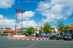 Bangkok Thailand: lopp på jätte- gunga Royaltyfri Fotografi