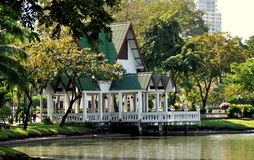 Bangkok, Thailand: Lumphini Park Pavilion Royalty Free Stock Photo