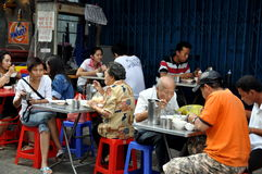 Bangkok, Thailand: Lunch at Outdoor Restaurant Stock Photo