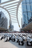 Bangkok, Thailand - 8. März 2016: 1600 Panda-Welttournee Lizenzfreie Stockfotografie
