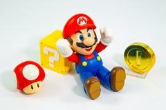 Bangkok, Thailand - 27. März 2016: Super-Mario Bros-Zahl cha lizenzfreies stockbild