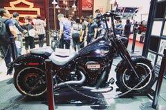 Bangkok,thailand-March 30, 2019:Motor bike detail-A Harley-Davidson motorcycle was showed in 40th Thailand International Motor