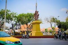BANGKOK, THAILAND, 28 MAART, de Straat van 2013 met Stock Foto's