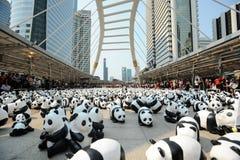 Bangkok, Thailand - Maart 8, 2016: 1600 document Panda'skamp van Mache Royalty-vrije Stock Afbeelding