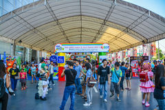3de de ingangsatmosfeer van het Festival van Thais-Japan Anime&Music. Stock Fotografie