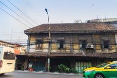 Bangkok, Thailand - Maart 2, 2017: Landschapsmening van uitstekende bu Royalty-vrije Stock Foto's