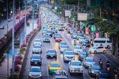 Bangkok, Thailand - Maart 8, 2017: Mening van Opstopping in Stock Afbeeldingen