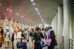 Bangkok, Thailand - Maart 8, 2017: Passagiers die in Satho werkt Stock Foto's