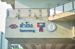 Bangkok, Thailand, 14,2018 Maart, Raadsnaam van elektrische trein stat Stock Fotografie