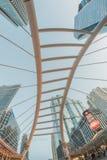 Bangkok, Thailand - Mai 22,2015: Höhenwinkel des Skywalk Lizenzfreie Stockbilder
