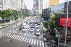 BANGKOK, THAILAND - 22. MAI 2018: Bangkok-Verkehr auf Sukumvit R Lizenzfreies Stockbild