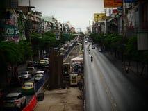 Bangkok, Thailand Am 26. Mai 2018 Verkehrssituation während darunter Stockfotografie