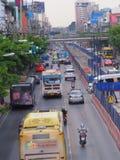 Bangkok, Thailand Am 26. Mai 2018 Verkehrssituation während darunter Lizenzfreie Stockfotografie